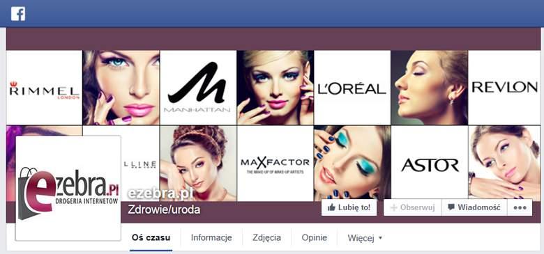 Fanpage strony ezebra.pl na facebooku