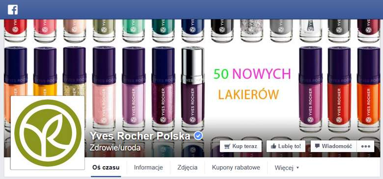 Yves Rocher na facebooku