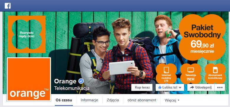 Orange na facebooku