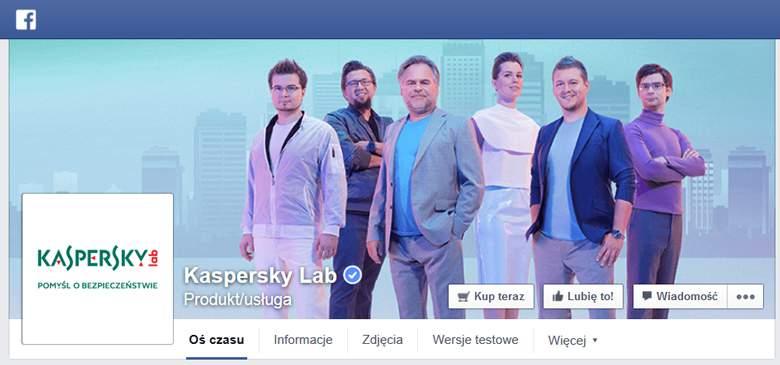 Kaspersky na facebook