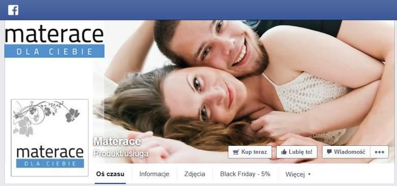 Materace dla ciebie na facebooku