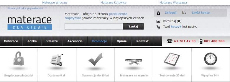 Strona główna sklepu Materace dla ciebie