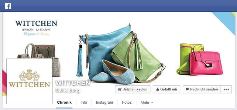 Fanpage firmy Wittchen na facebooku