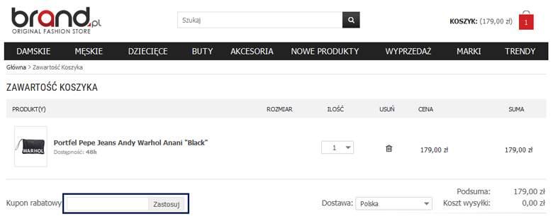 Koszyk w Brand.pl