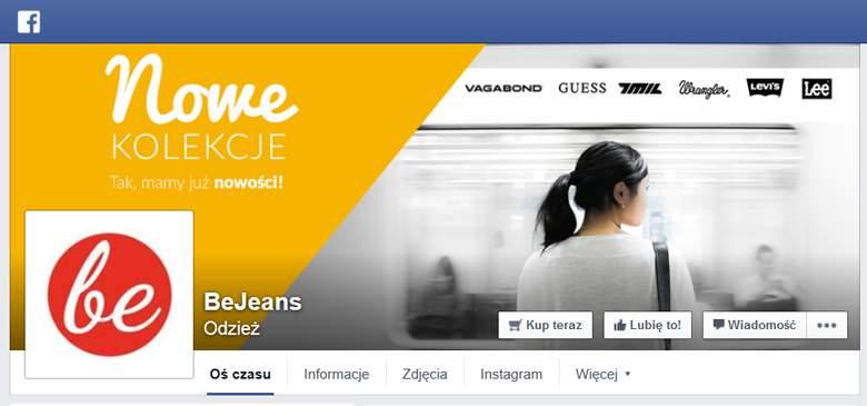 beJeans na Facebooku