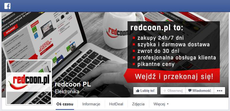 Redcoon na Facebooku