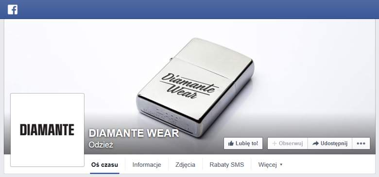 Diamante Wear na Facebooku