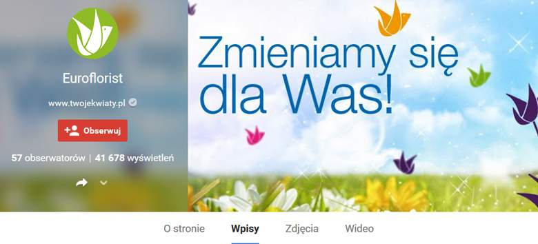 Euroflorist na Google+