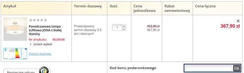 koszyk w lampy.pl