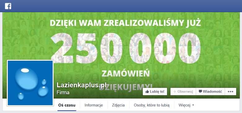 Lazienkaplus.pl na facebooku