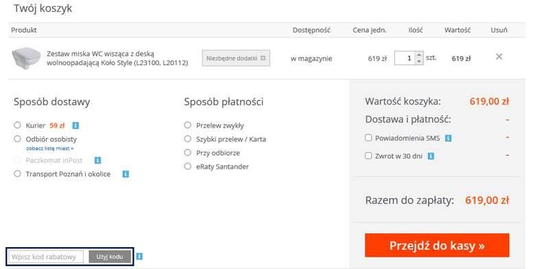 Koszyk w Lazienkaplus.pl
