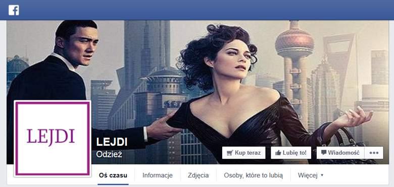 Lejdi sklep na facebooku
