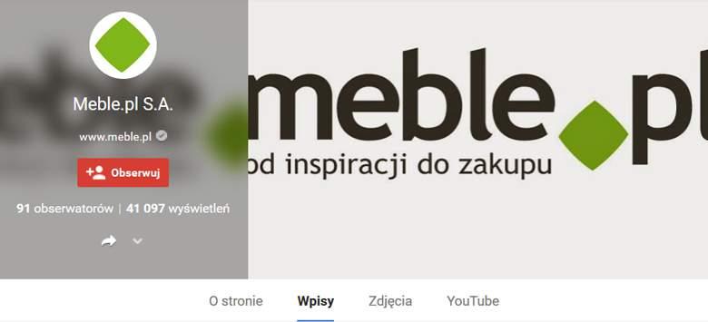 Profil Meble.pl na google+