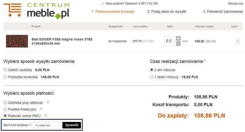 Koszyk w Meble.pl