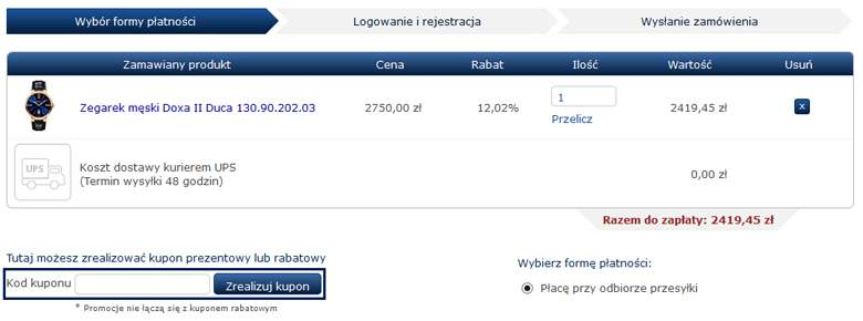 Koszyk w Minuta.pl