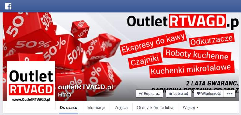 Outlet RTV AGD na Facebooku