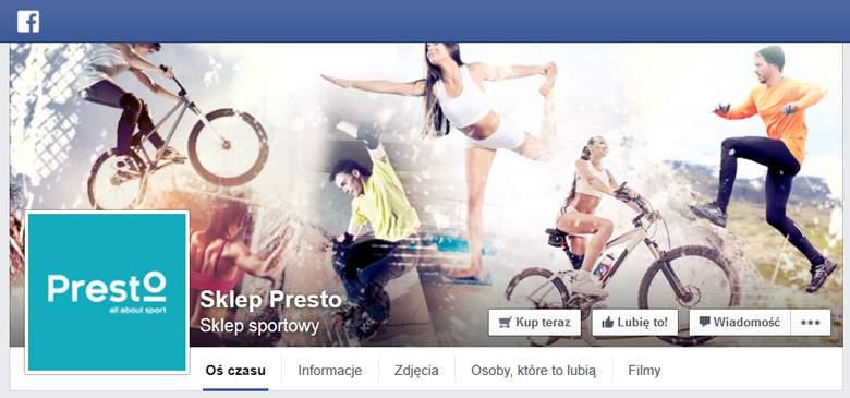 Presto na Facebooku