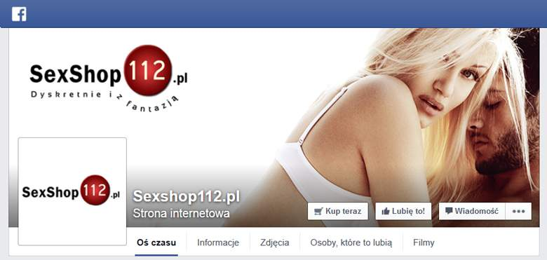 Sex shop 112  na facebooku