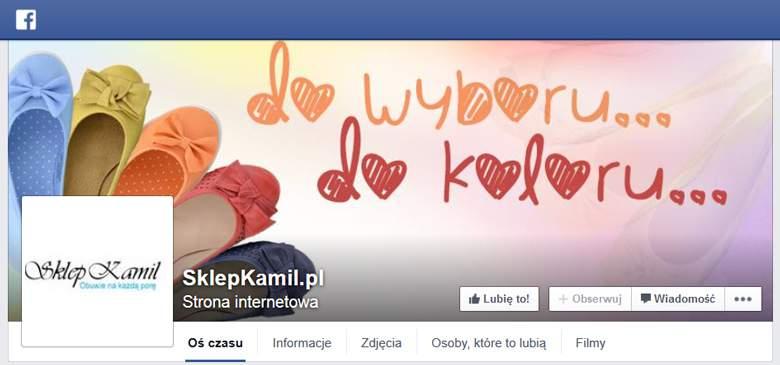 Sklep Kamil na Facebooku