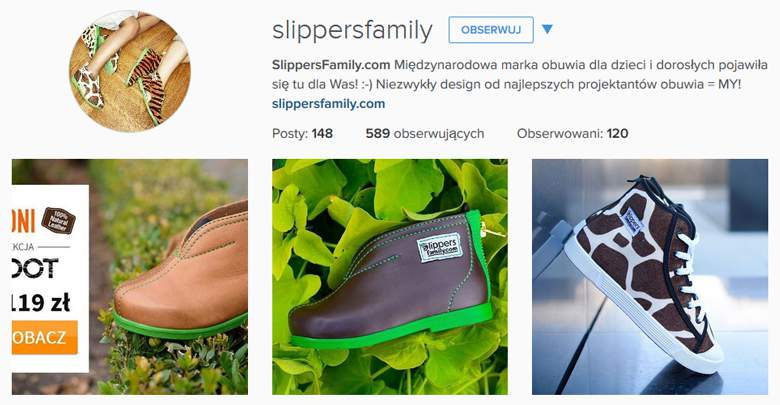Slippers Family na Instagramie