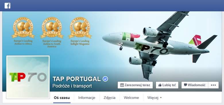 TAP Portugal na Facebooku