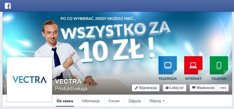 Vectra na Facebooku
