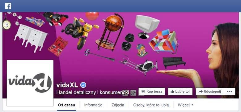 VidaXL na Facebook