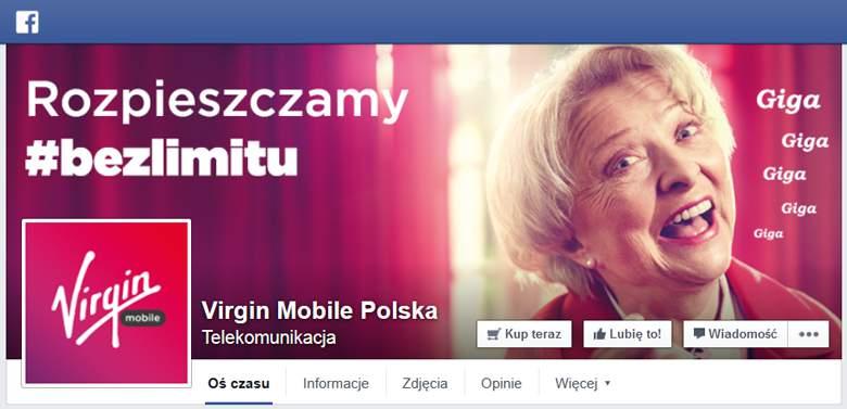 Virgin Mobie na facebook