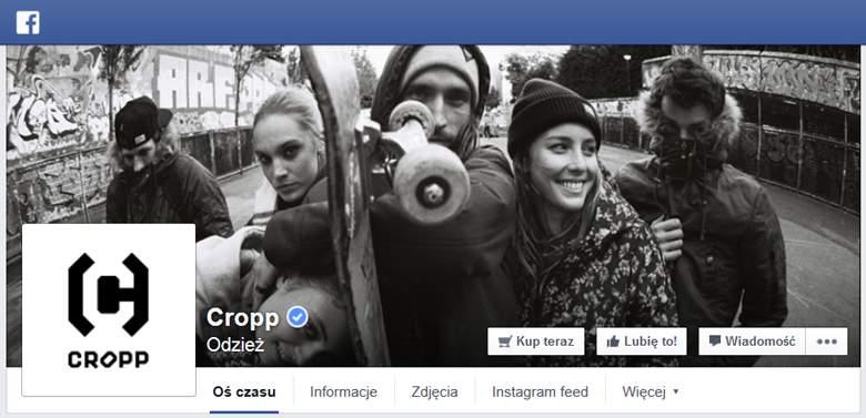 Cropp na Facebooku