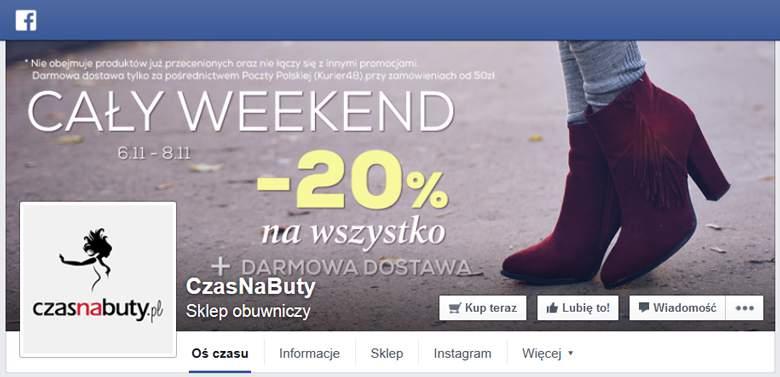 Czas na buty na Facebooku