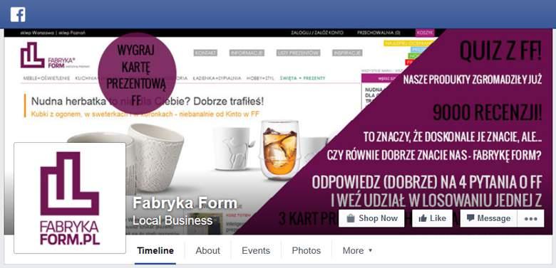 Fabryka Form na Facebooku