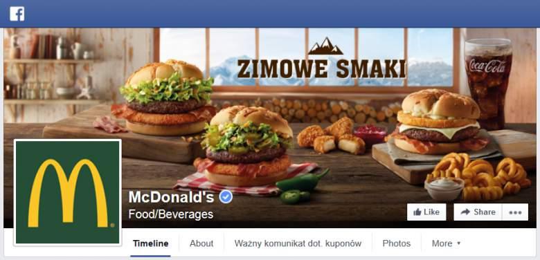 McDonalds na Facebooku