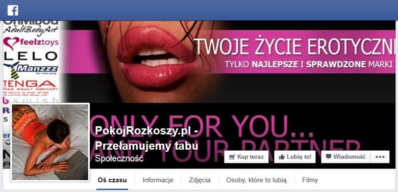 Pokój Rozkoszy na facebooku