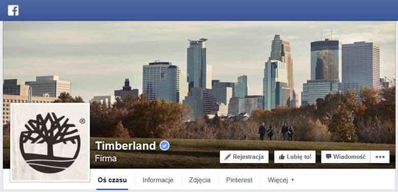 Timberland na Facebooku