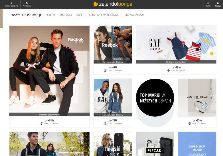 Zalando Lounge Kupony Rabatowe 80% marzec 2020   Zalando